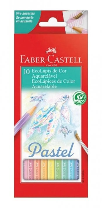 LAPIS DE COR 10 CORES AQUARELAVEL PASTEL