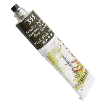 TINTA OLEO ACRILEX 20 ML 355 SOMBRA NATURAL