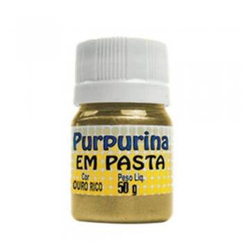 PURPURINA EM PASTA 50 GR OURO RICO GLITER