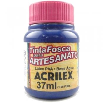 TINTA ACRILEX FOSCA P/ARTES. 37 ML 824-AZUL SECO