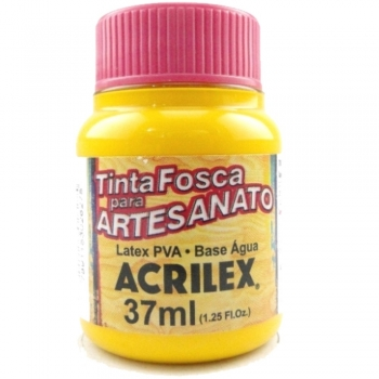 TINTA ACRILEX FOSCA P/ARTES. 37 ML 833-AMARELO GEM