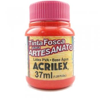 TINTA ACRILEX FOSCA P/ARTES. 37 ML 507-VERM. FOGO