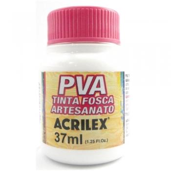 TINTA ACRILEX FOSCA P/ARTES. 37 ML 519-BRANCO