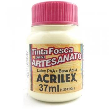 TINTA ACRILEX FOSCA P/ARTES. 37 ML 529 MARFIM
