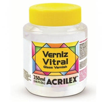VERNIZ  VITRAL ACRILEX 250 ML - 500 INCOLOR