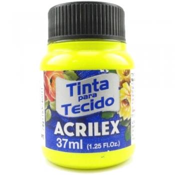 TINTA TECIDO FLUOR ACRILEX 37 ML 102 AM.LIMAO