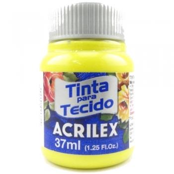 TINTA TECIDO FOSCA ACRILEX 37 ML 504-AM.LIMAO