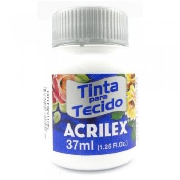 TINTA TECIDO FOSCA ACRILEX 37 ML 519 BRANCO