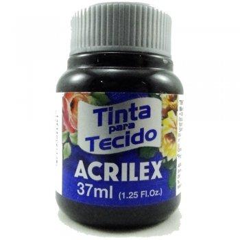 TINTA TECIDO FOSCA ACRILEX 37 ML 520 PRETO
