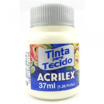 TINTA TECIDO FOSCA ACRILEX 37 ML 529 MARFIM