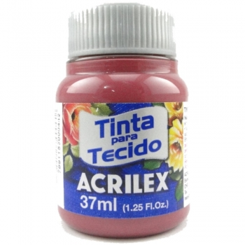 TINTA TECIDO FOSCA ACRILEX 37 ML588 VERM. QUEIMADO