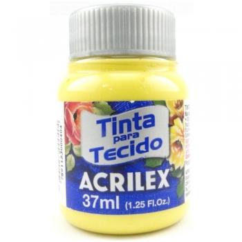 TINTA TECIDO FOSCA ACRILEX 37 ML589 AM.  CANARIO