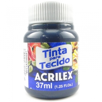 TINTA TECIDO FOSCA ACRILEX 37 ML 596 AZUL PETROLEO