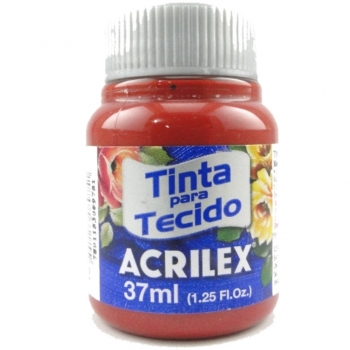 TINTA TECIDO FOSCA ACRILEX 37 ML 632 VERM. PROFUND