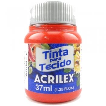 TINTA TECIDO FOSCA ACRILEX 37 ML 507 VERM.FOGO