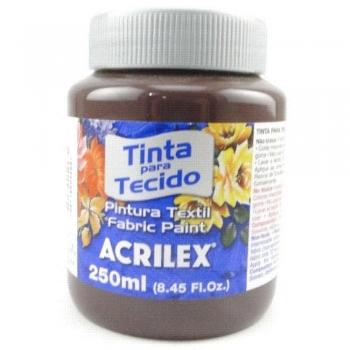 TINTA TECIDO FOSCA ACRILEX 250 ML 514 TERRA QUEIMA