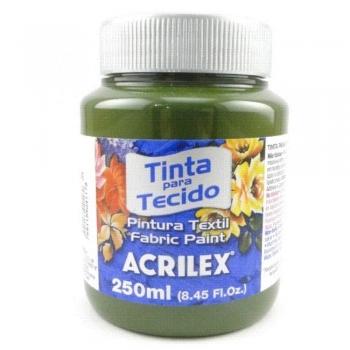 TINTA TECIDO FOSCA ACRILEX 250 ML 545 VERDE  OLIVA