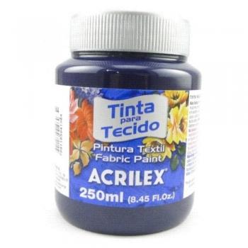 TINTA TECIDO FOSCA ACRILEX 250 ML 544 AZ. MARINHO