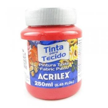 TINTA TECIDO FOSCA ACRILEX 250 ML 984 VERM. NATAL