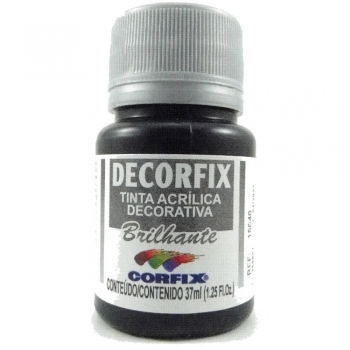 TINTA DECORFIX ACRIL. BRILH. 37 ML 321 PRETO