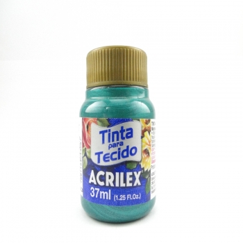 TINTA TECIDO METALICA ACRILEX 37 ML 557 VERDE