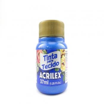 TINTA TECIDO METALICA ACRILEX 37 ML 559 AZUL