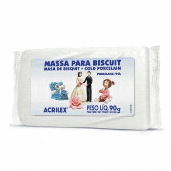 MASSA P/ BISCUIT ACRILEX 90 GR 987 NATURAL