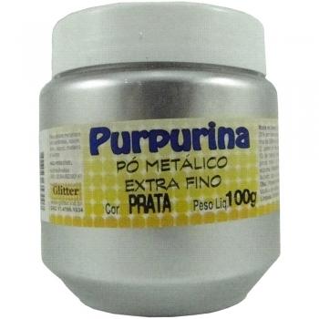 PURPURINA PRATA 100 GR GLITER