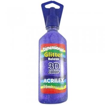 TINTA DIMENS.RELEVO 3D 35 ML GLITTER 207 VIOLETA