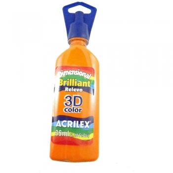 TINTA DIMENS. RELEVO 3D BRILH. 35 ML  517  LARANJA