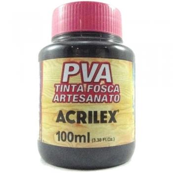 TINTA ACRILEX FOSCA P/ARTES.100 ML 520 PRETO