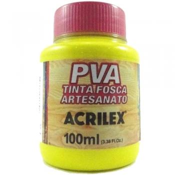 TINTA ACRILEX FOSCA P/ARTES.100 ML 504 AM LIMAO