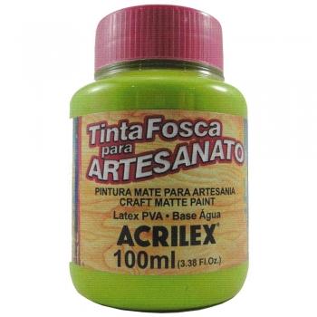TINTA ACRILEX FOSCA P/ARTES.100 ML 802 VERDE MACA