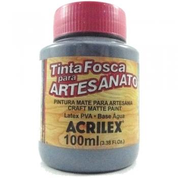 TINTA ACRILEX FOSCA P/ARTES.100 ML 574 CINZA LUNAR