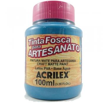 TINTA ACRILEX FOSCA P/ARTES.100 ML 823 AZUL PISCIN