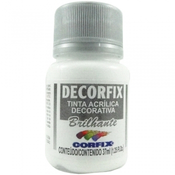 TINTA DECORFIX ACRIL. BRILH.37 ML 301 BRANCO BRIL.