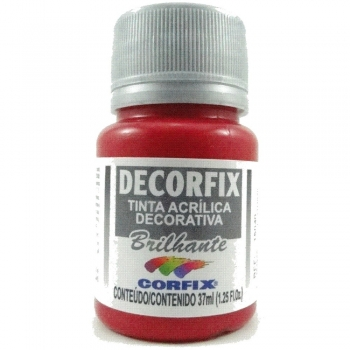 TINTA DECORFIX ACRIL. BRILH.37 ML 312 VM CARMIM