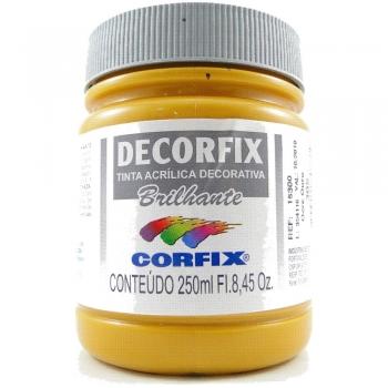 TINTA DECORFIX  ACR. BRILH. 250 ML 305 OCRE OURO