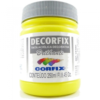 TINTA DECORFIX  ACR. BRILH. 250 ML 302 AM LIMAO