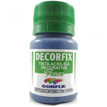 TINTA DECORFIX FOSCA 37 ML 382 AZUL PETROLEO