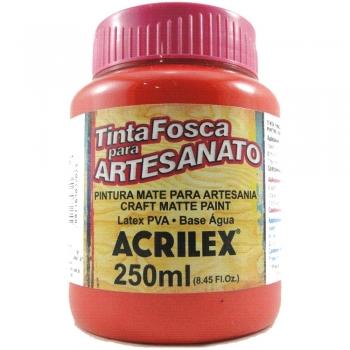 TINTA ACRILEX FOSCA P/ARTES. 250 ML 507 VERM.FOGO