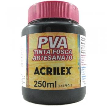 TINTA ACRILEX FOSCA P/ARTES. 250 ML 520-PRETO