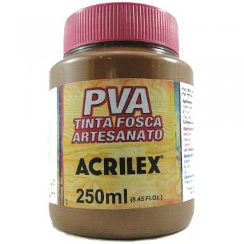 TINTA ACRILEX FOSCA P/ARTES. 250 ML 531 MARROM