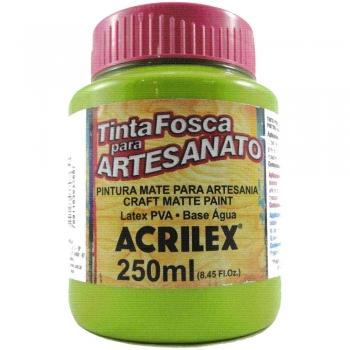 TINTA ACRILEX FOSCA P/ARTES. 250 ML 802 VERDE MAC