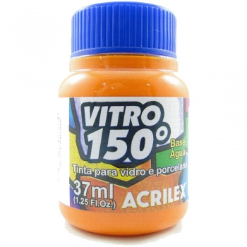 TINTA ACRILEX VITRO 150º 37 ML 517 LARANJA