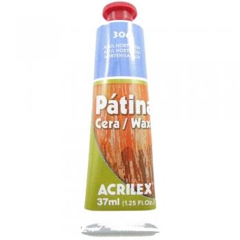 PATINA CERA ACRILEX 37 ML 306 AZUL HORTENSIA