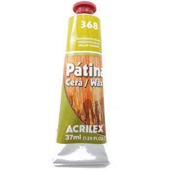 PATINA CERA ACRILEX 37 ML 368 DOURADO SOLAR
