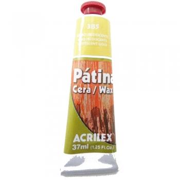 PATINA CERA ACRILEX 37 ML 385 OURO IRIDESCENTE