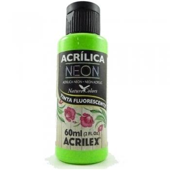 TINTA ACRILEX ACRIL. NEON 60 ML 101 VERDE