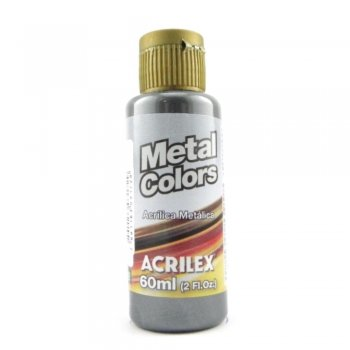 TINTA ACRILICA METAL COLORS 60 ML  520 PRETO